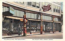 Juneau Alaska The Nuggest Shop Curio Store Front Antique Postcard (J30420)