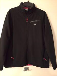 New Balance Women's Jacket Black Large Full Zip Running Jacket Zip Up Pockets