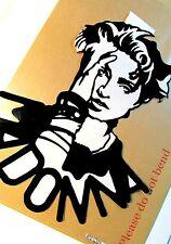 """MADONNA,Original Pop Art, Music Celebritie Vinyl Sticker 8""""X10"""" inches Portrait"""