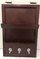NEW Pottery Barn Esspresso Stain DAILY SYSTEM Wall Office Organizer Holder