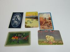 5 Single Swap Playing Cards Birds Duck Parrot Quail Raven Chick 30444
