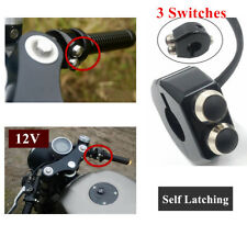 1x Universal CNC Self Latching Switch Aluminium Handle Grips Reset Buttons - New