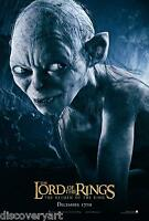 Lord of The Rings 2001 Gollum Smeagol Canvas Movie Poster Wall Art Film Print