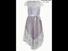 Monsoon Silver Madrid Lace Dress 13 Years RRP £70.00