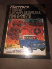 New ListingChilton Truck Repair Manual 1961-1971 Part Number 6198 Hard Cover