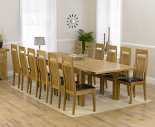 Trend oak furniture extra large extending dining table and 12 Monte Carlo chairs