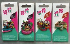4 x London 2012 Olympic & Paralympic Games Opening & Closing Ceremony Pin Badges