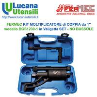 """FERMEC MOLTIPLICATORE di COPPIA da 1"""" modello BGS1230-1 in Valigetta Smontagomme"""