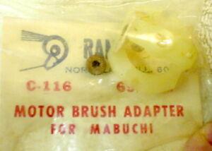 RAM C-116 Motor Brush Adapter Nylon 36D Mabuchi Motor 1960's Slot Car NOS