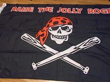 "PITTSBURGH PIRATES "" RAISE THE JOLLY ROGER ""  3 X5 FLAG W/ GROMMETS"