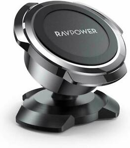 Ravpower Magnetic Car Mount Holder Adhesive 360 Rotatable iPhone Android Black