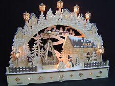 3d LED ARCOS DE LUCES arbotantes con pirámide Muñeco nieve 3 figuras 55x35 10291