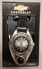 PRICE REDUCED! Chevrolet Watch with Light Clip on Belt Loop New Old Stock, NIB