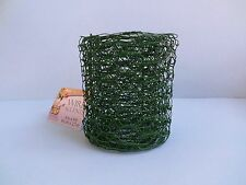 CHICKEN WIRE COATED GARLAND ~ 4in X 9ft ROLL ~ FAIRY GARDEN FENCE CRAFT~GREEN
