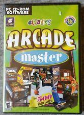 ARCADE MASTER PC CD-ROM 50 GAMES ! 500 LEVELS ! brand new & sealed UK !