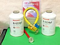 R-1234YF Refrigerant Honeywell, 8 oz Solstice® yf (2) & FJC Taper & Hose