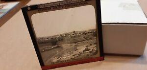 "GS25 ANTIQUE R.PHOTO MAGIC LANTERN SLIDE(VESTER)""JERUSALEM FROM BETHANY ROAD?"""