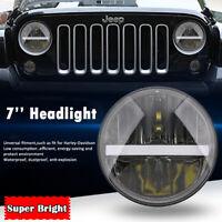 7'' pouces LED High-Low Beam Phare DRL clignotant Lumière Pour Jeep Wrangler JK