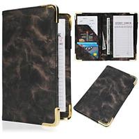Server Book - Waitress/Waiter Book Organizer with Zipper Pouch, Guest Check Book
