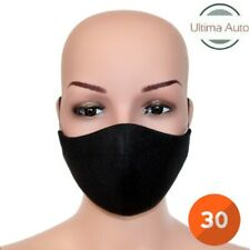 30x Black Breathable Fabric Washable Face Mouth Anti Pollution Protection