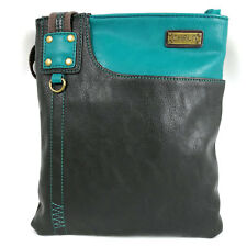 Chala Vegan Leather Small Crossbody Purse with Canvas Strap  (813-Bag Only)