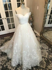 Unique Lace Floral off the shoulder Wedding Dress Sweetheart Neck Bridal Gown