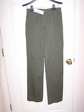 "NWT women's/misses ""LACOSTE"" GOEMON olive green pants/slacks -size 2 - ret. $185"