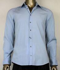 $565 New Authentic Gucci Men's Sky Blue Shirt 45/15.75 317751 4600