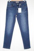 Kancan Women's Mid Rise Skinny Stretch Dark Blue Wash KC11214M