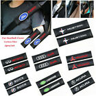 2PCS Car Carbon Fiber Generic Car Seat Belt Shoulder Pad Seat Belt Cover Cushion