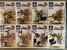 169 pcs 8  Army Soldier Minifigures and Weapons  USA SELLER Fast Shipping
