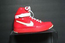 Nike Air Feather Hi PRM '10 Sneaker Women 8.5 Athletic Multi Crimson White Hip