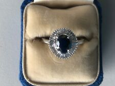 Stunning 1.44 CTW Solitaire Sapphire and Diamond 14K Yellow Gold Ring, size 6.5