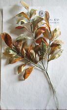 3 Sprays Great Vintage Fall Velvet/Satin Millinery Hat Flower UNUSED  Leaves