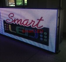 """3x6 Outdoor Full Color Rgb 76""""L X 38""""H Programmable Scrolling Led Sign WiFi 10mm"""