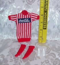 VINTAGE COCA-COLA OUTFIT AND SHOES FOR 9 INCH FASHION DOLLS