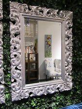 Wandspiegel ANTIK ROKOKO 120x90 Barock SILBER Florenza UVP 899€ Spiegel WOE
