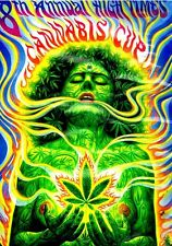 "3.25"" Marijuana STICKER. HIGH TIMES WEED WOMAN. Greatt for your glass bong, pipe"
