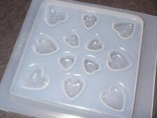 Resin Mold Heart Jewelry 12 Count Hearts Puffed Flat Pendant Chocolate Fondant
