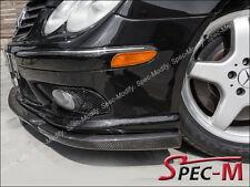 CS Type Front Bumper Lip Carbon Fiber Fit 03-05 W209 CLK55 CLK550 AMG Bumper