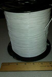 ( 25 FT ) M16878/5BEB9 White 24awg Cable Wire (Silver) Core 1000V Teflon PTFE