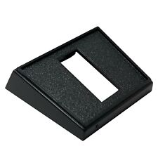 "(5) Rocker Switch Rectangle Black Mounting Panel 1-1/8"" X 1/2"" Dia. Hole UK Made"