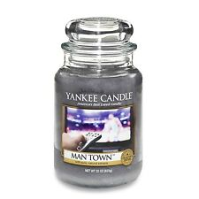 Yankee Candle - Man Town - 22 oz - Collector's Edition Man Candle!! - RARE!!