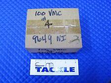 VMC Round Bend Treble Size 4 Fish Hooks Nickle Finish 100 Count Box 9649 NI 4