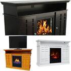 Electric Fireplace TV Stand Heater 55 w Remote Media Storage Cabinet 750W/1500W