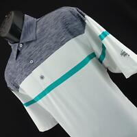 Mens FootJoy FJ Prodry Gray Performance Athletic Golf Polo Shirt Size Large L