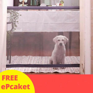 Magic Gate Portable Folding Safety Guard Door Fence Net Puppy Pets Dog Cat Mesh