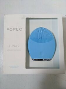 FOREO LUNA 2 Facial Cleansing Brush and Portable Skin Care device Blue Sealed Ne