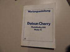 Werkstatthandbuch Datsun Cherry N10 Motor E Reparaturanleitung Werkstattbuch