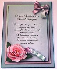 Handmade Greeting Card 3D Happy Birthday Special Daughter With A Sentiment